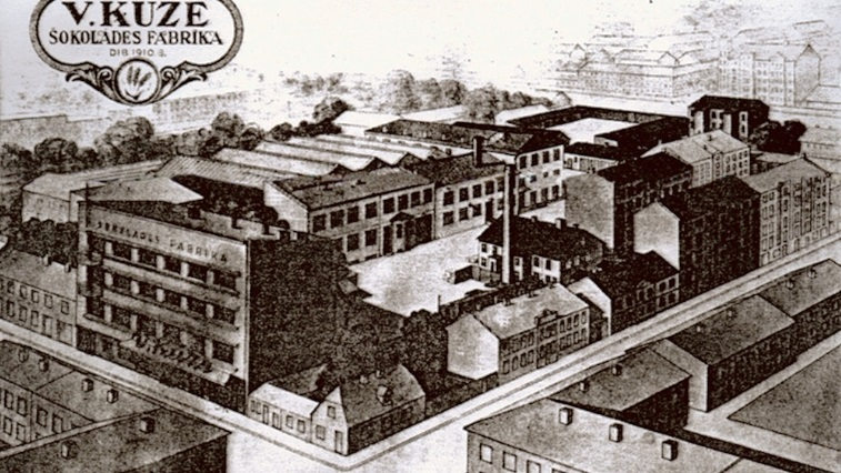 Vilhelms Ķuze chocolate factory in 1910