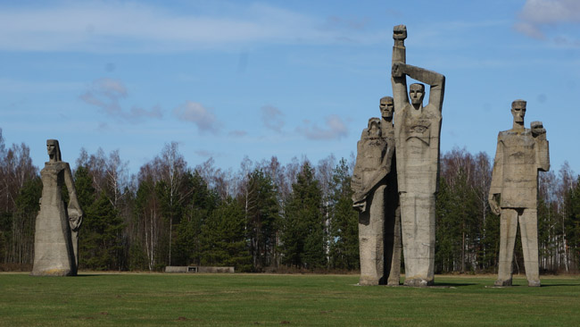 Part of Salaspils memorial.