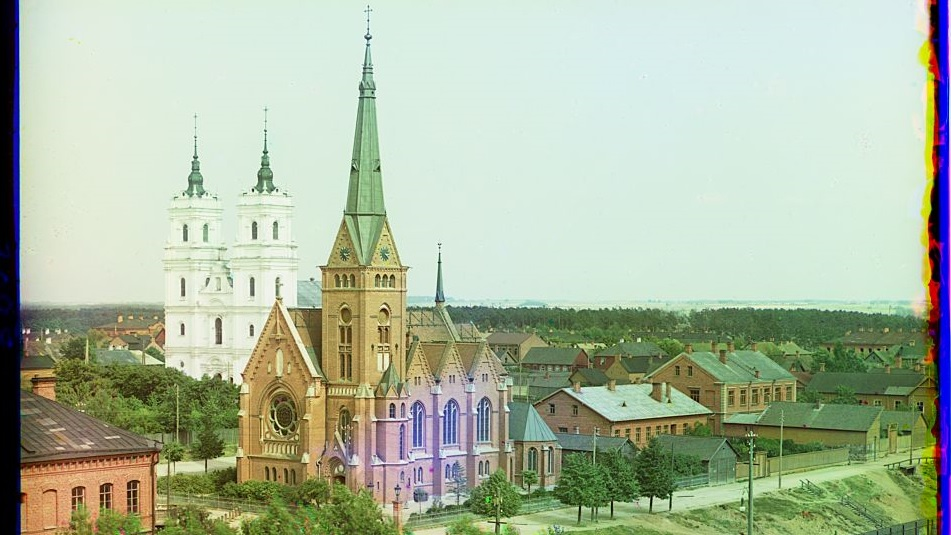 Daugavpils religious centre in 1912