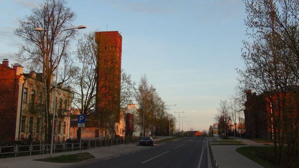 Varšavas street with lead shot tower