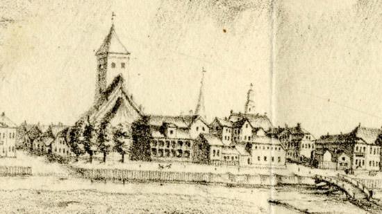 Jelgava in 1750
