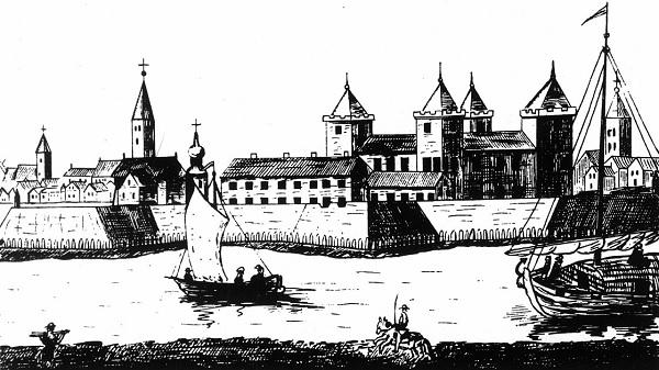 Jelgava castle in 1704