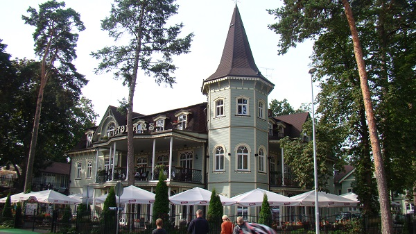 Art nouveau summerhome (now hotel) in downtown Jūrmala