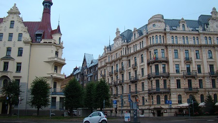 Alberta street in Centrs district of Riga
