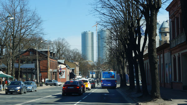 Latvia's tallest skyscrapers Z-Towers under construction
