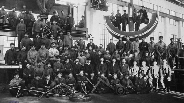 Workers of the Riga Union factory