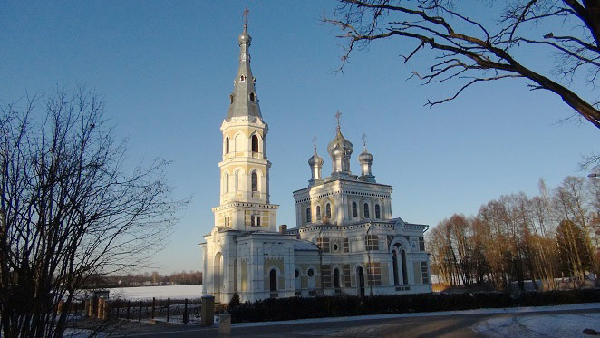 Russian Orthodox church in Stameriena village built in 1904 when Latvia was still under Russian rule