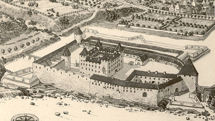 Kuldiga castle of the Courland-Semigallia in 1680