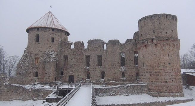 Central fortification of Medieval Cēsis castle
