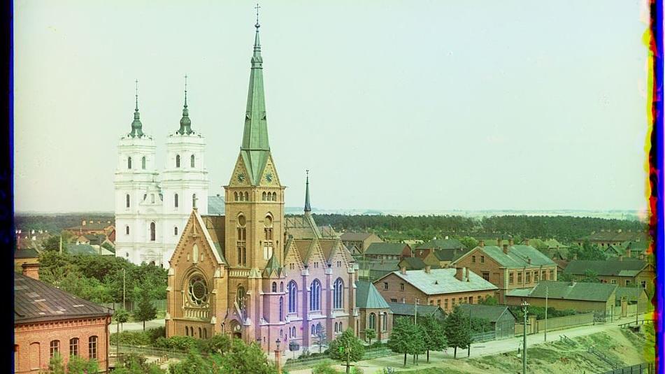 Daugavpils religious centre in 1912