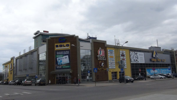 A mall in downtown Daugavpils