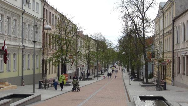 Riga pedestrian street in Daugavpils