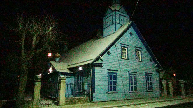 typical wooden and modest Old Believer church (1888) in Jēkabpils