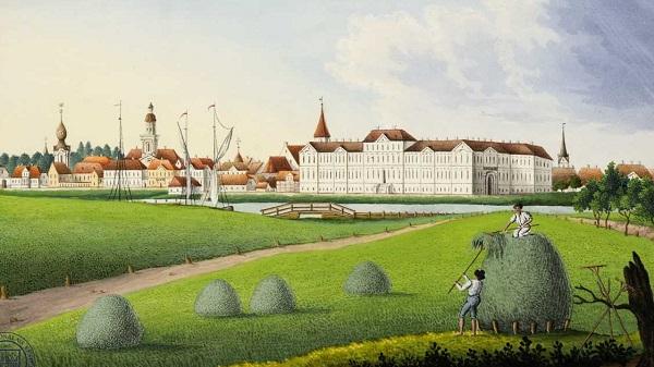Idyllic painting of 1840 Jelgava