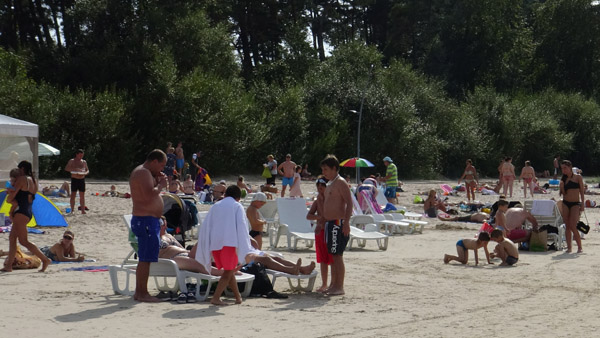 Latvians on a beach