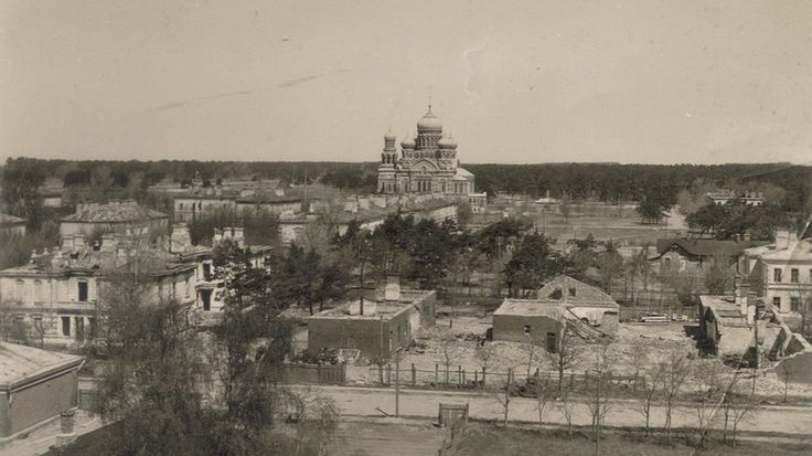 Karosta naval military city after taking damage during World War 1