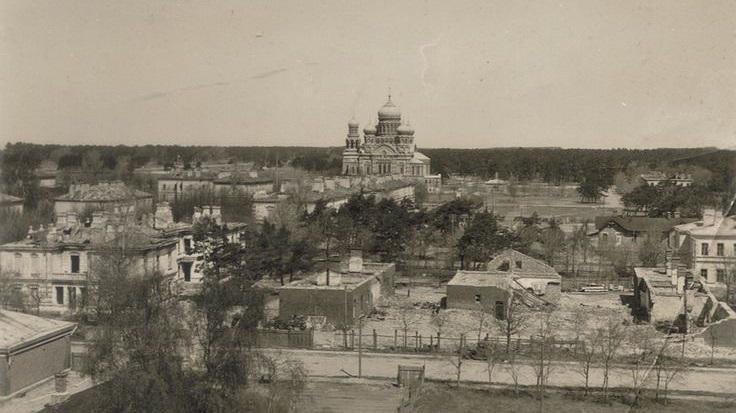 Karosta naval military city after taking damage during World War 1