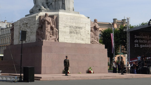 Celebrations of 'De facto independence day', August 25th at the Freedom monument in Riga