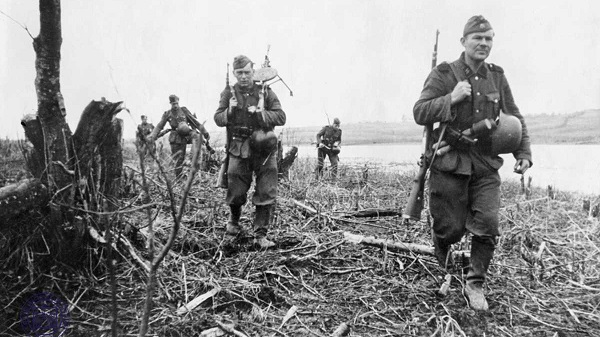 Soldiers of the Latvian legion