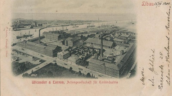 Wicander and Larson cork factory in Liepāja.