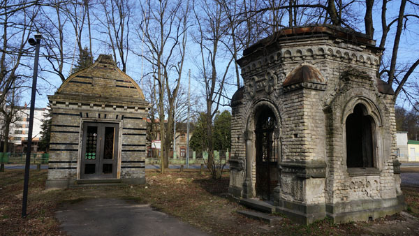 Abandoned crypts in Brasa cemetery