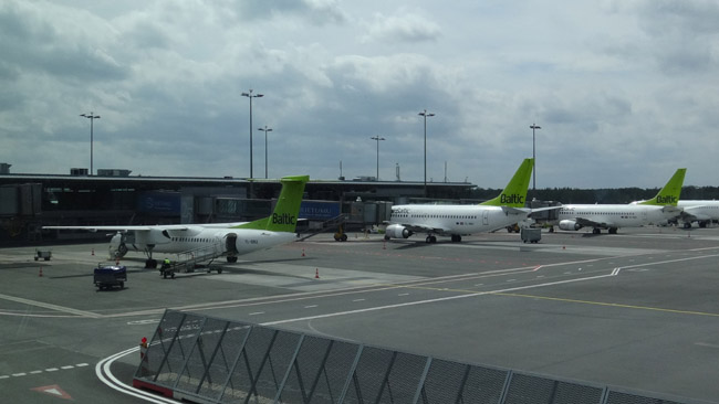 airBaltic planes at the Riga International Airport