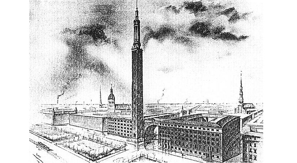 Riga city hall project, 1939