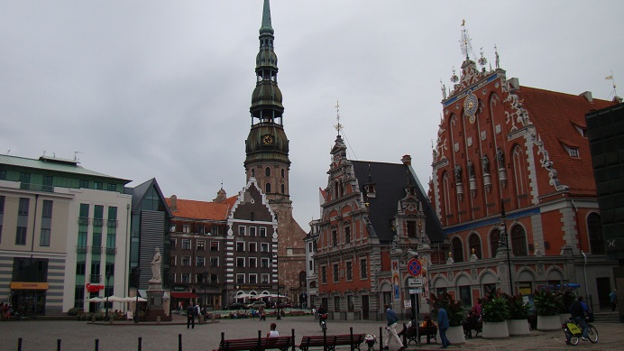 The most famous square of Riga Old Town