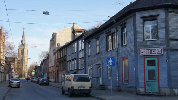 A street in Grīziņkalns
