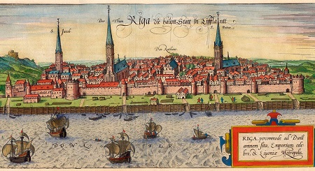 Riga in later 16th century