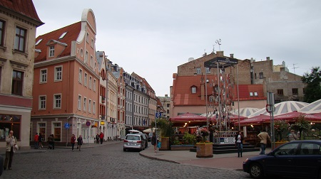 A square in Riga