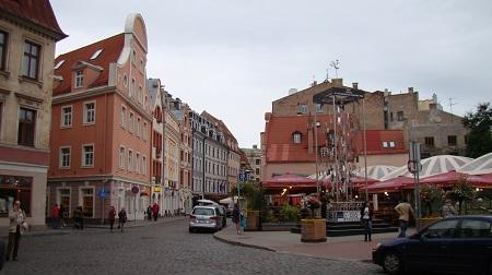 A square in Riga