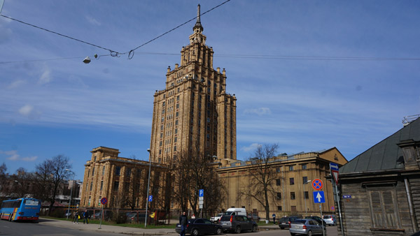 Stalinist Palace of Science in Riga