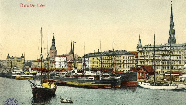 Port of Riga in 1910
