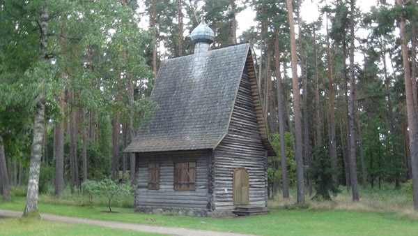 Old Believer village church now in Riga skansen
