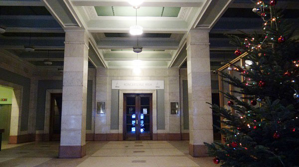 The lobby of the socialist realist Riga Palace of science