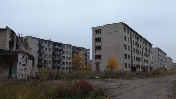Abandoned Soviet military town Skrunda-2