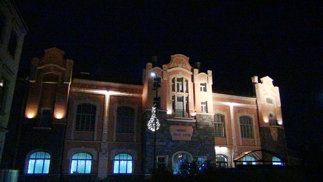Ventspils planetarium with an interesting assymetric illumination